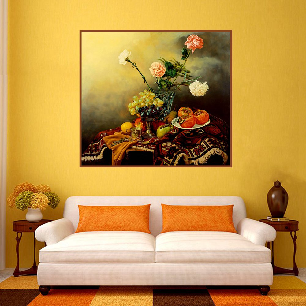 Beautiful Carnations Flowers Home Decoration Oil Canvas Painting ...