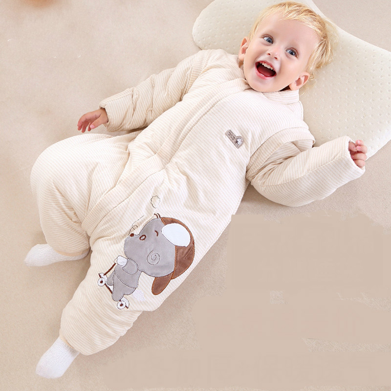 Organic cotton baby sleeping baby sleeping bag and straddle children kicked by cotton anti winter thickening erbaviva organic cotton baby bib