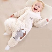 Органический хлопок младенца спать младенца спальный мешок и оседлать дети выгнали хлопок анти зима утолщение