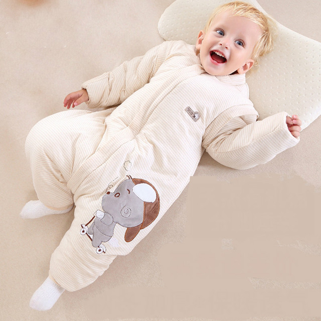 Organic cotton baby sleeping baby sleeping bag and straddle children kicked by cotton anti winter thickening