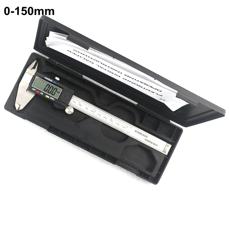 0-150mm Electronic Digital Vernier Caliper Stainless Steel Rule Gauge Micrometer Paquimetro Messschieber LCD Measuring Tool 150mm 6inch electronic vernier caliper ip54 waterproof stainless steel digital caliper resolution 0 01mm measuring tool with box