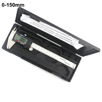 0 150mm Electronic Digital Vernier Caliper Stainless Steel Rule Gauge Micrometer Paquimetro Messschieber LCD Measuring Tool