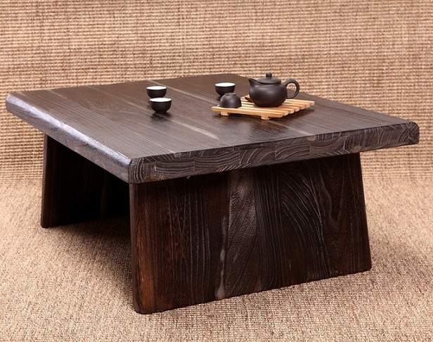 Us 258 0 Anese Antique Table Rectangle 80 65cm Paulownia Wood Asian Traditional Furniture Living Room Low Floor For Dining In Coffee Tables