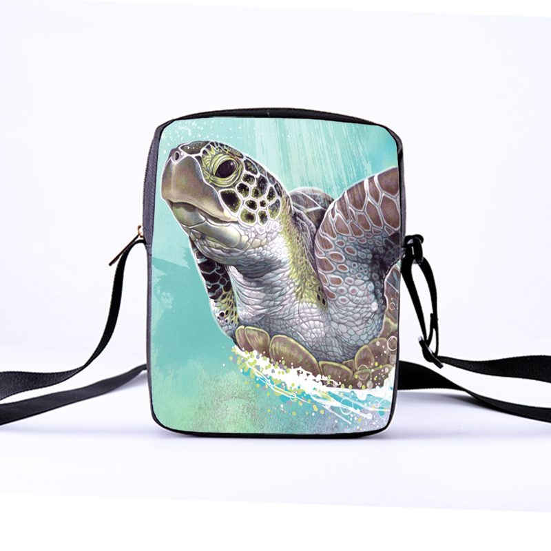 CROWDALE Women Messenger Bags  23x17x5cm 3D-Denim Animal Shoulder Bag Handbags Sea turtles Messenger Bag Children Crossbody BagCROWDALE Women Messenger Bags  23x17x5cm 3D-Denim Animal Shoulder Bag Handbags Sea turtles Messenger Bag Children Crossbody Bag