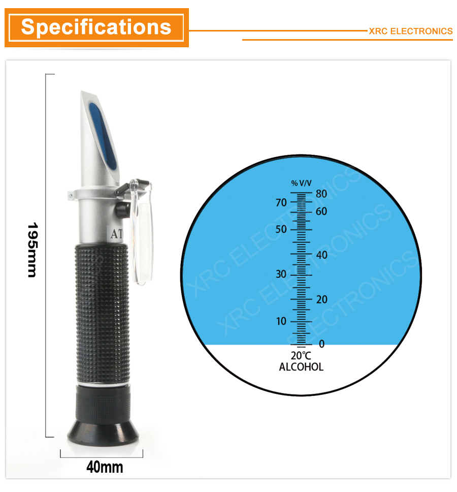 Refractometer Alcohol detail RZ116 2