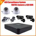 CCTV 4CH Full D1 P2P HDMI H. 264 Мини DVR Система Видеонаблюдения Системы Безопасности HD CMOS 700TVL ИК Комплект Камеры