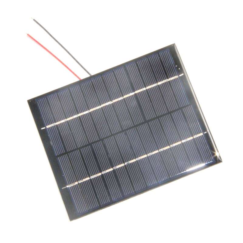 BUHESHUI Mini 12V 2W Polycrystalline Mini Solar Panel module Cell With Cable/Wire For Charger Battery 136x110*3MM Epoxy 10pcs