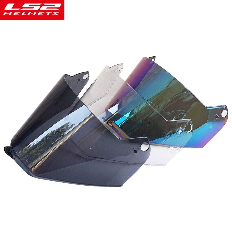 LS2 MX436 Plein visage motocross casque visière lentille pour LS2 MX436 moto casques Visage bouclier arc-en-noir clair lunettes