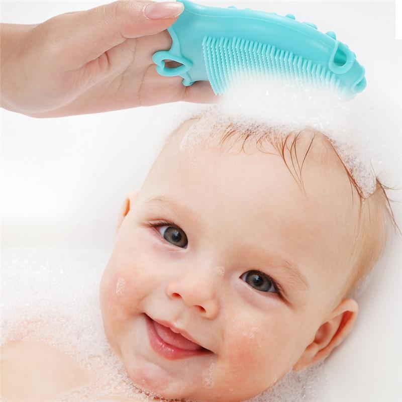 Bebé masaje facial cepillo del cuerpo del cuero cabelludo Tiptop depurador de silicona Limpiador-8829