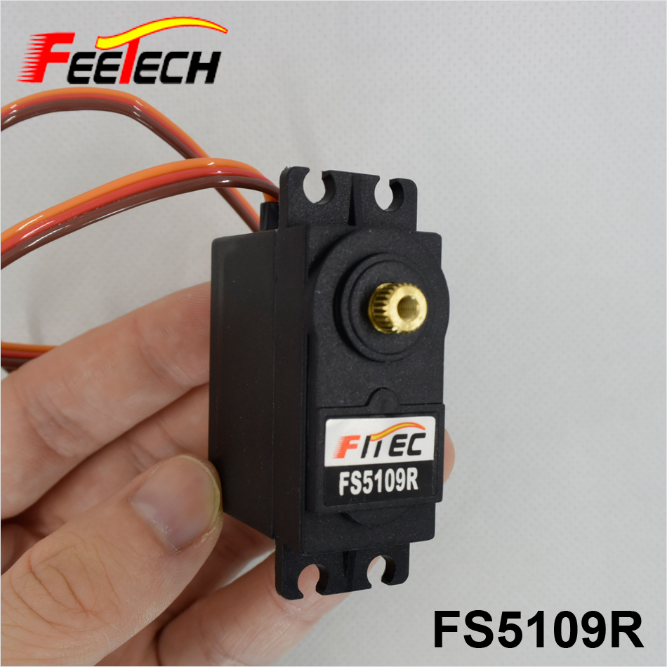 10kg.cm 360 Degree Continuous Rotation Servo FS5109R FEETECH Servo for Robot levett caesar prostate massager for 360 degree rotation g spot