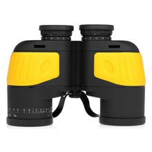 купить 10X50 Binocular Compass Marine Navigation Boating Binocular Telescope For Outdoor Birdwatching Travel Hunting Camping Telescope дешево