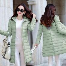 2016 зима новый Корейских женщин в длинный отрезок Тонкий был тонкий хлопок-ватник студентов пуховик теплая куртка