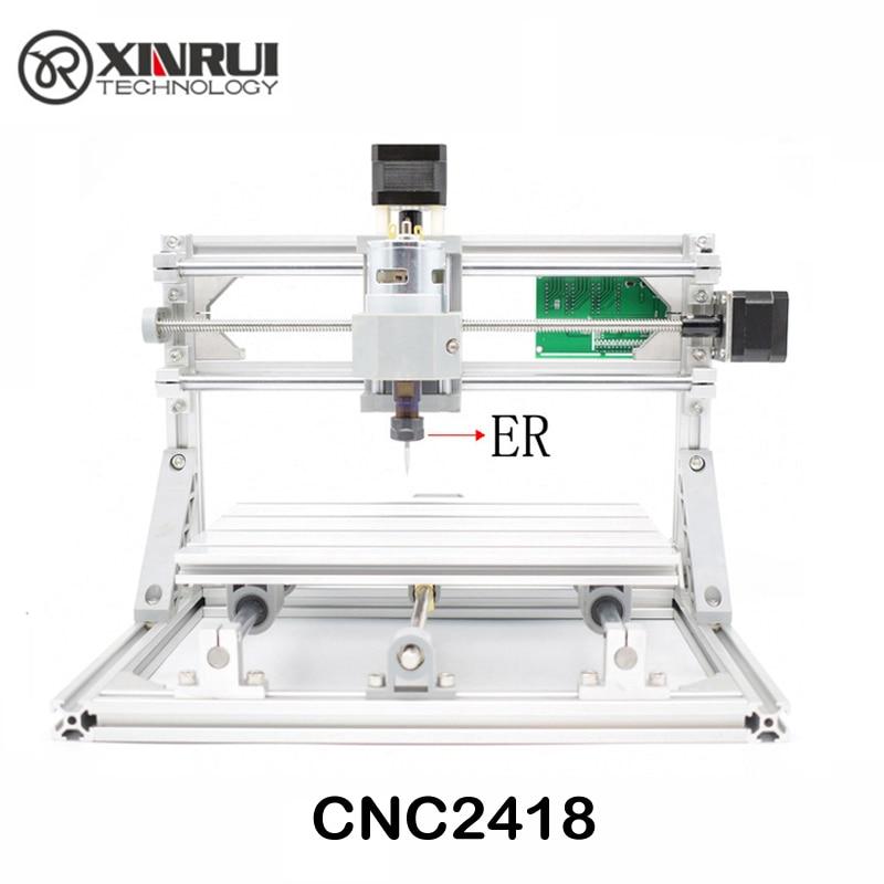 CNC 2418 ER11 GRBL contrôle Diy CNC machine, zone de travail 24x18x4.5 cm, 3 Axe pcb pvc fraiseuse, Bois Routeur Graveur