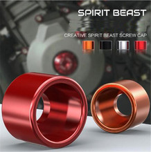 SPIRIT BEAST Scooter Decorative Screw CNC Aluminum Alloy Cap MotoMotorcycle Accessories Cover Modified