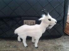 simulation sheep 13x12cm model polyethylene & furs white goat toy model decoration gift t447