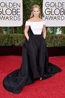 Винтажное Белое и черное платье знаменитости Amy Schumer с карманом на 73rd Annual Golden Globe Awards 2019 Бальные платья с вырезом лодочкой