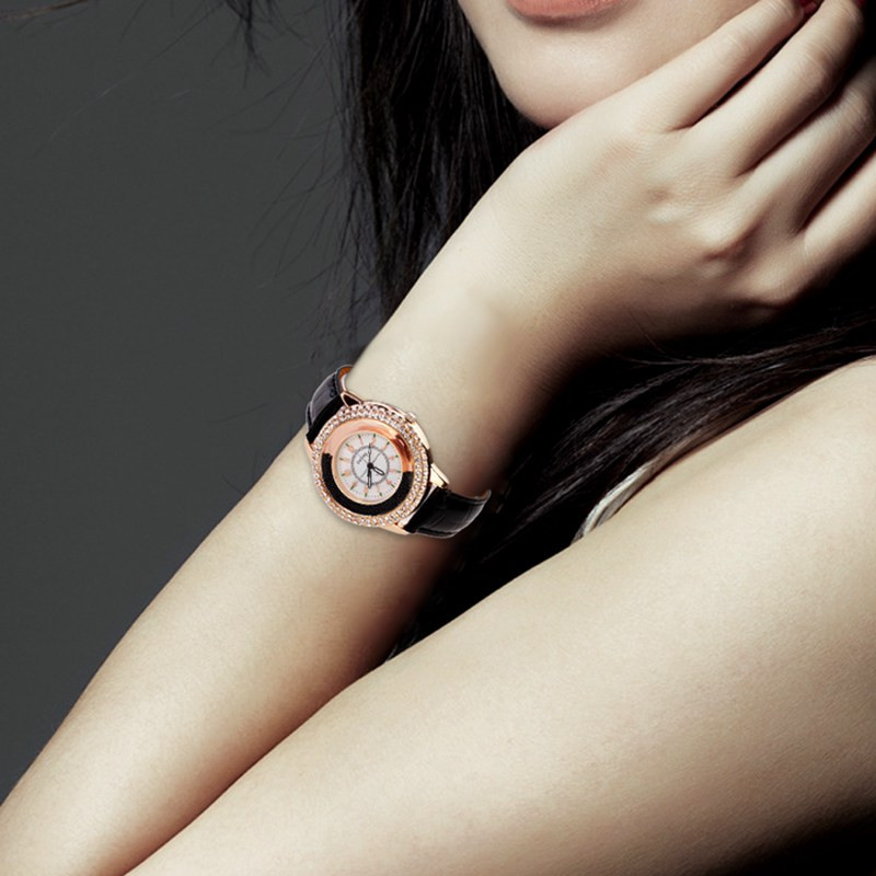 Hot Gorgeous Luxury  Fashion Rhinestone Watch Women Casual Leather Clock Female Quartz Ladies Wristwatch Reloj mujer Colck  недорого