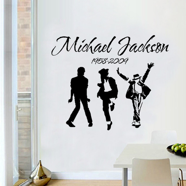 2017 new design pop king michael jackson variety of kings home decoration wall sticker living room
