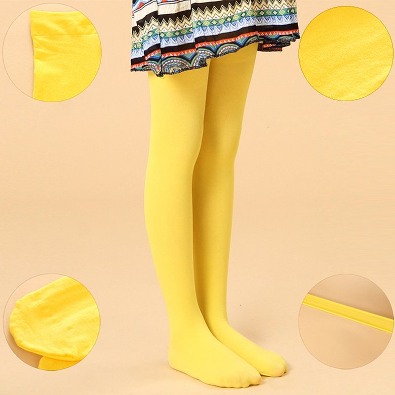 Spring/autumn candy color children tights for baby girls kids cute velvet pantyhose tights stockings for girls dance tights rib knit tights