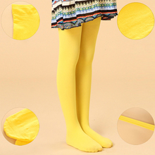 Spring/autumn candy color children tights leggings for baby girls kids cute velvet pantyhose tights stockings for girls dance