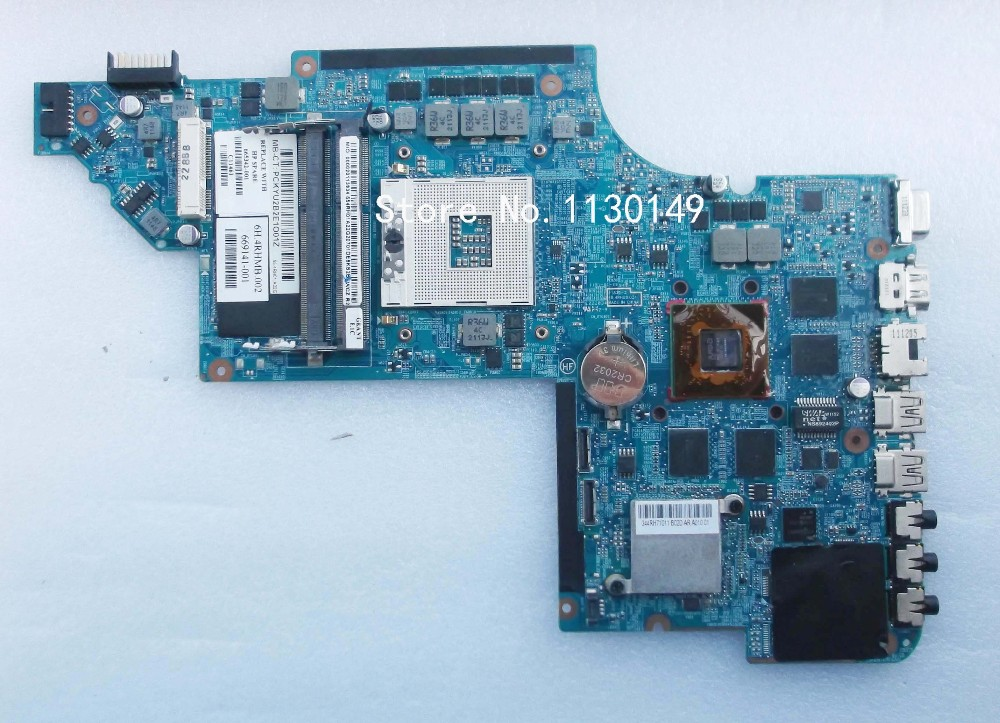 665342-001 Free Shipping Laptop Motherboard For HP Pavilion DV6T DV6-6000 motherboard HD6770 2GB Notebook PC Tested OK free shipping ems 48 4st10 031 681999 001 laptop motherboard for hp pavilion dv7 notebook pc