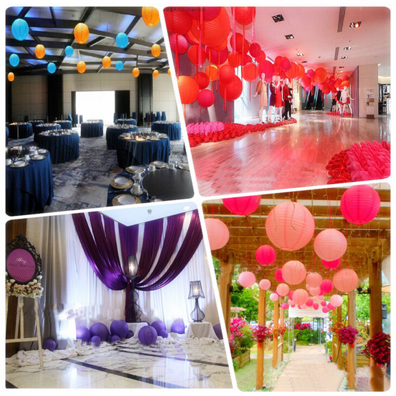 Paper Lanterns Wedding Decoration Ideas: 12 Inch Round Chinese Paper Lantern Birthday Wedding Party