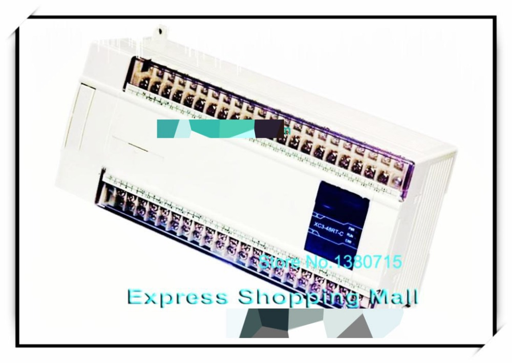 New XC3-48RT-C PLC CPU DC24V 28 DI NPN 20 DO Relay&Transistors xc3 24r c plc cpu dc24v 14 di npn 10 do relay with new original