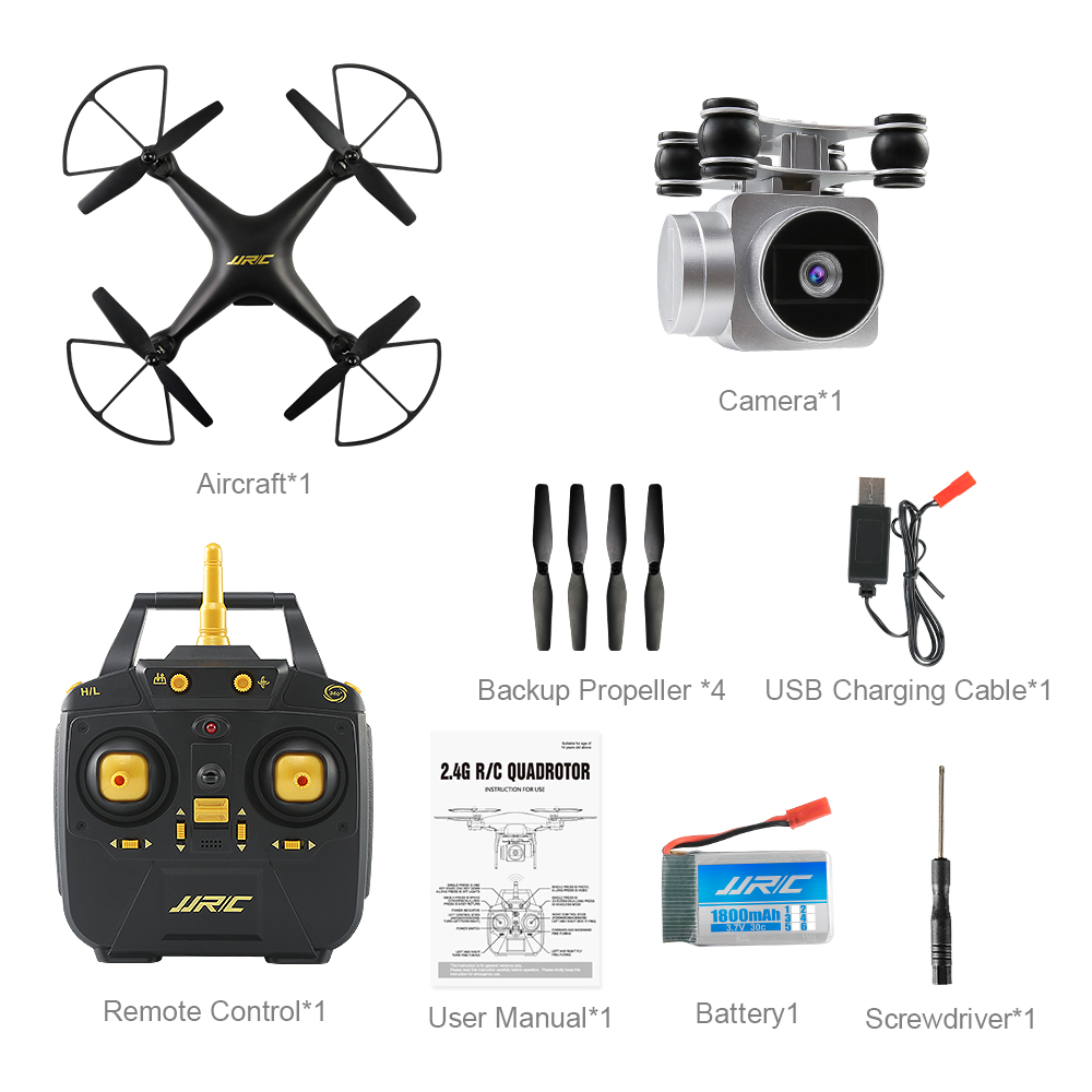 JJRC H68 RC Quadrocopter Toy Drone Profissional with 2MP 720P HD Camera WIFI FPV Drone About 20 Minutes Using Time RC Helicopter