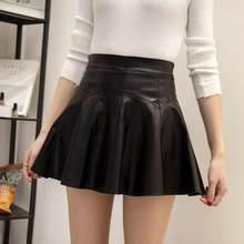 7d8fd726c1b7b0 Pleated Skirt Leather Promotion-Achetez des Pleated Skirt Leather ...