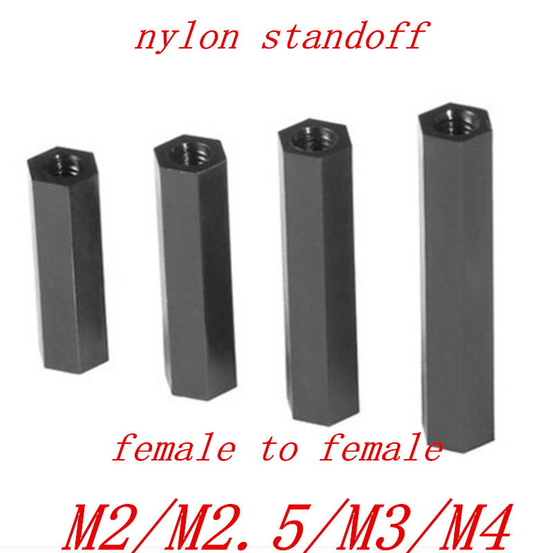 10Pcs-50Pcs M2-M4 Nylon Hex Column Female Spacer Double-Pass Isolation Standoff