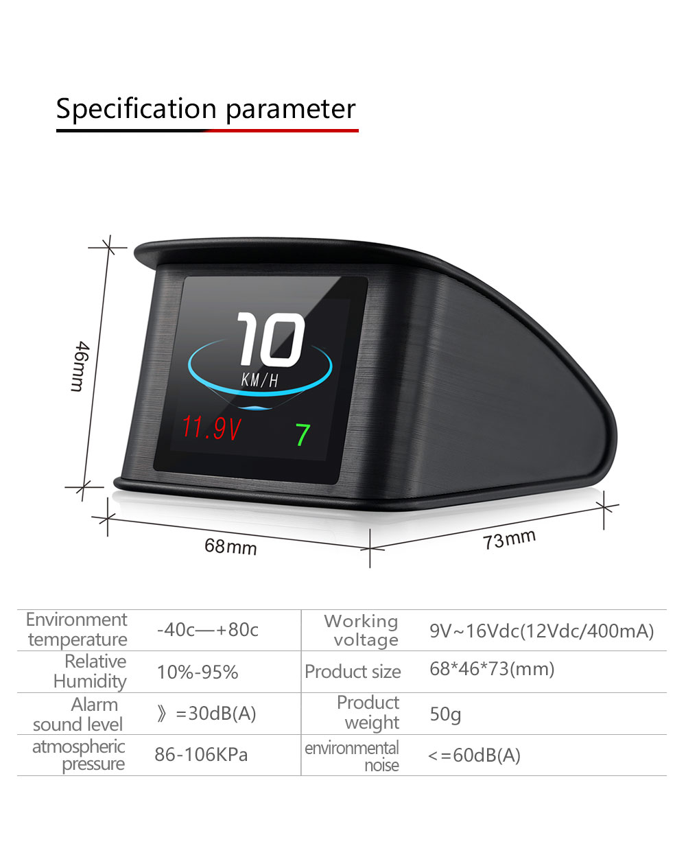 Image 5 - OBDHUD T600GPS OBD Computer Car Speed Projector Digital Speedometer Display Fuel Consumption Temperature Gauge Diagnostic Tool-in Head-up Display from Automobiles & Motorcycles
