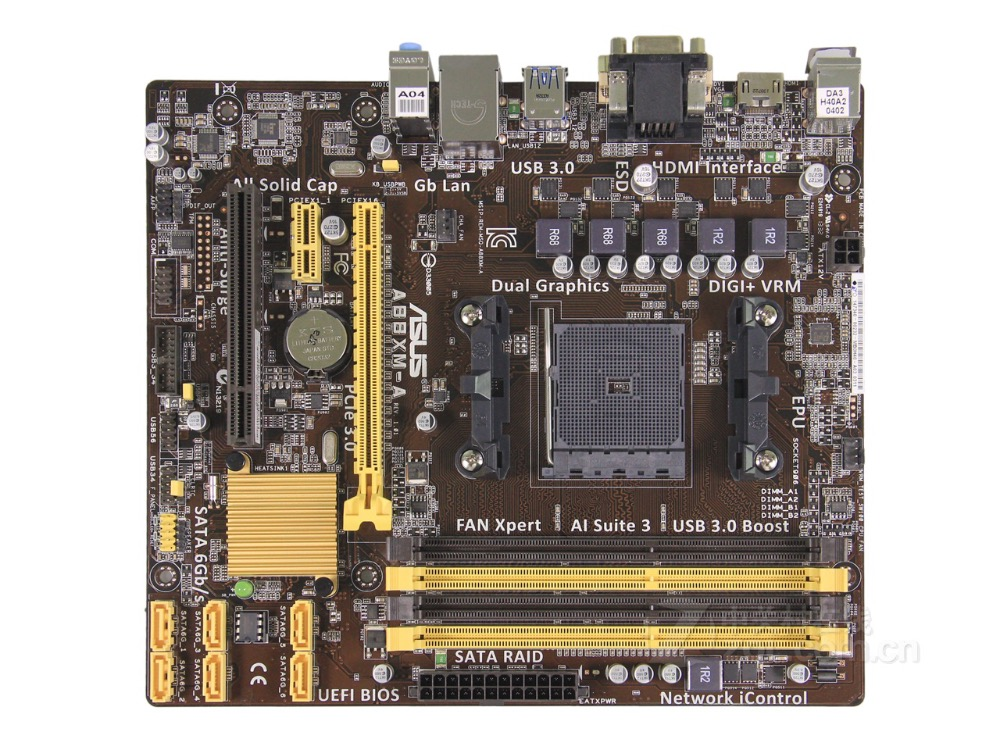 цена на Free shipping original motherboard for new ASUS A88XM-A Socket FM2/FM2+ DDR3 USB2.0 USB3.1 64GB SATA3 Desktop Motherboard