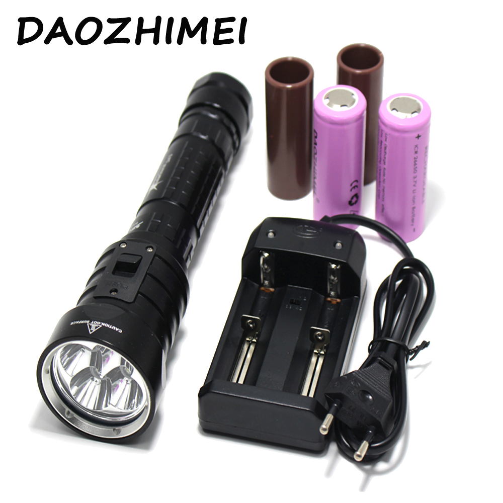 DX4S (upgraded from DX4) XM-L U2 3200LM LED Diving Flashlight Torch Brightness Waterproof 100m White Light Led Torch