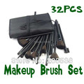 Fiber Hairy Make Up Brushes Cosmetic Face Makeup Brush 32pcs With Eyebrow Pencils and Makeup Brushes Bag
