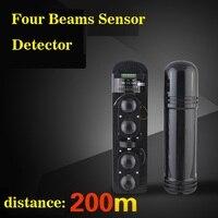 Anti-intrusione Quattro Travi Intelligente IR del Sensore della Fotocellula coperta Detctor distanza: 600 m Per La Casa di Allarme Systtem