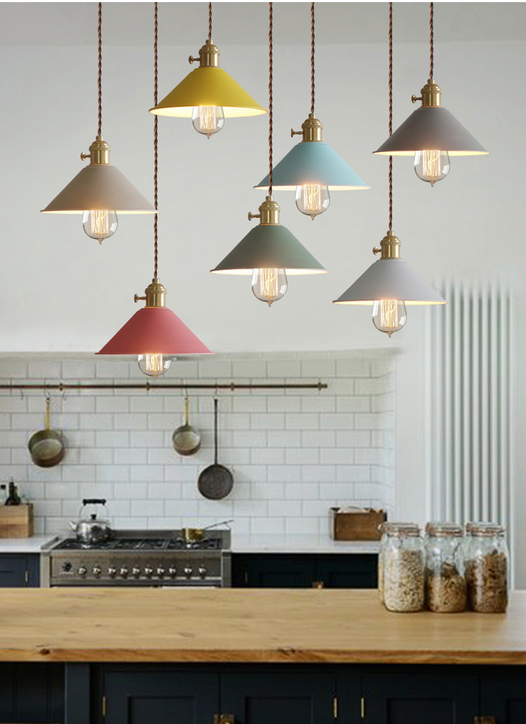 цены на Phube Lighting Modern Pendant Light Blue Yellow Khaki Pendant Light Bar Restaurant Living Room Lighting Included Edison Bulbs в интернет-магазинах