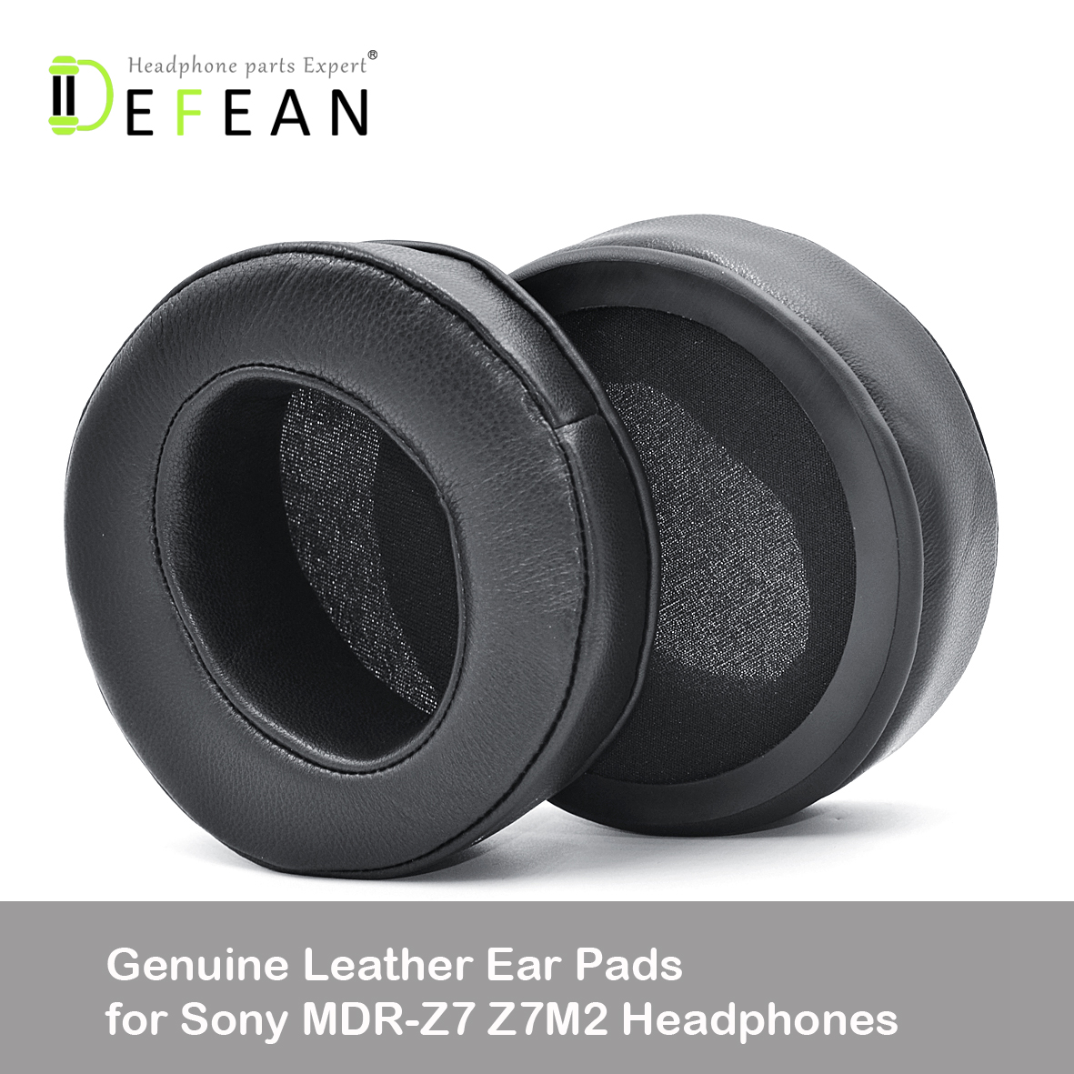 Defean upgrade Angle Genuine Leather Ear Pads Cushion earpad Replacement for Sony MDR Z7 Z7M2 Headphones