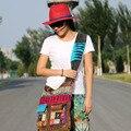 2016 Original Novo Nepal Índia handmade algodão Bordado saco nacional Bohemian casual bolsa de ombro de alta qualidade