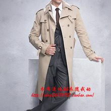 S-6XL !!  Free shipping new 2018 Men's brand Slim fashion Britain spring long trench coat Plus size clothing singer costumes