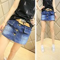 New 2016 Summer Style Plus Size Fashion Women Jeans Pocket Buttons female Culottes Shorts