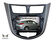 4UI intereface combined in one system CAR DVD PLAYER FOR Hyundai Solaris accent Verna i25 2011+ Bluetooth GPS NAVI RADIO stereo