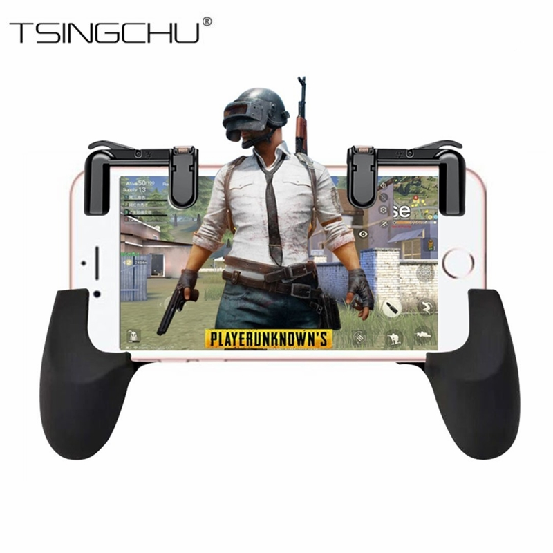 TSINGO Phone Gamepad Trigger Fire Button Sensitive Shoot and Aim Keys L1/R1 Shooter Joystick for PUBG/Fortnite/Rules of Survival
