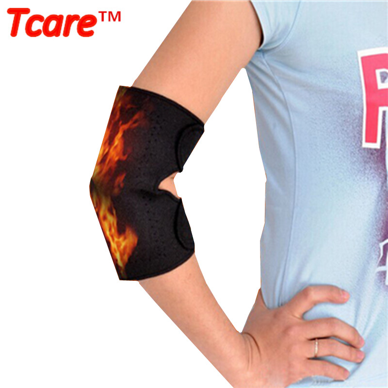 1 Pair Tcare Dirsek Massager Self-Ischeck Қолдау Brace Thermal Tourmaline Belt Therapy Ерлерге арналған теннис