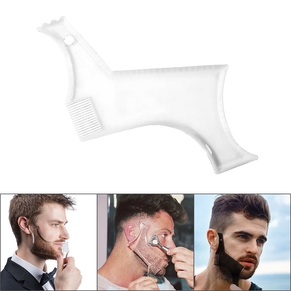 Hot Sale 1 Pcs Symmetry Trimming Beard Shaper Styling Shaping Template Comb Barber Tool SMJ