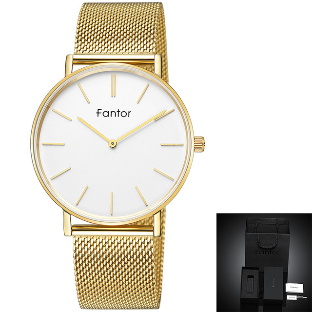 Fantor Men Watch Ultra Thin Minimalist Luxury Casual Mesh Watchband Quartz Wristwatches Top Brand Waterproof Man Dress Clock | Fotoflaco.net