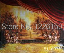 New Professional10ft x 10ft wedding hand painted old master backdrop 81-0025 ,photo studio/muslin photo background 10x20ft hand painted muslin old master newborn photo backdrop wedding photography studio backgrounds for family adults m07101