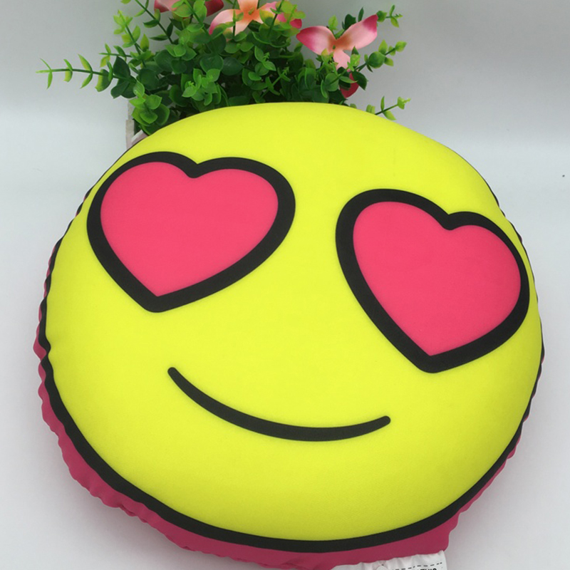 Hot Emoji Decorative Baby Pillow Children Stuffed Smiley Cushion Home Decor for Sofa Couch Chair Toy Emotional Smile Face Pillow