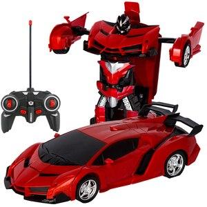Image 5 - Voiture robot RC 2 en 1, télécommande, robot à déformation RC sans fil, modèles RC, conduite, Transformation sportive, jouet pour enfants, cadeau