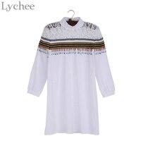 Bohemia Spring Summer Women Dress Cute Ethnic Embroidery Tassel Lace Patchwork Bead Mini Dress Boho