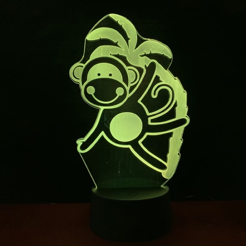Funny Led Night Lamp Monkey Nightlight for Children 39 s Bedroom Decoration Usb Battery Operated Led Night Light Kids Birthday Gift in LED Night Lights from Lights amp Lighting